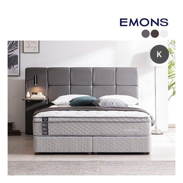 [에몬스] [킹K] 휴레스트 투매트리스 침대, 색상:아이보리