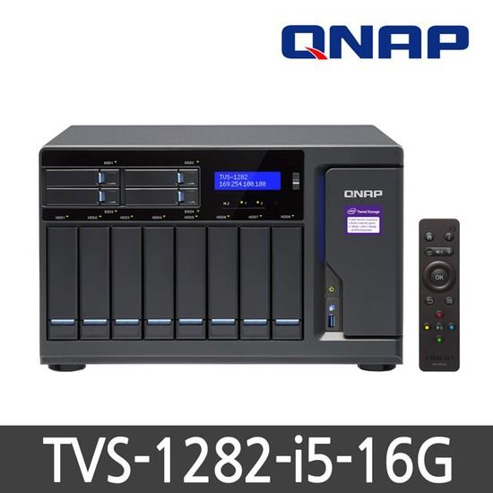 큐냅 TVS-1282-i5-16G 하드미포함 정품 12BAY NAS, TVS-1282-i5-16G(하드미포함)