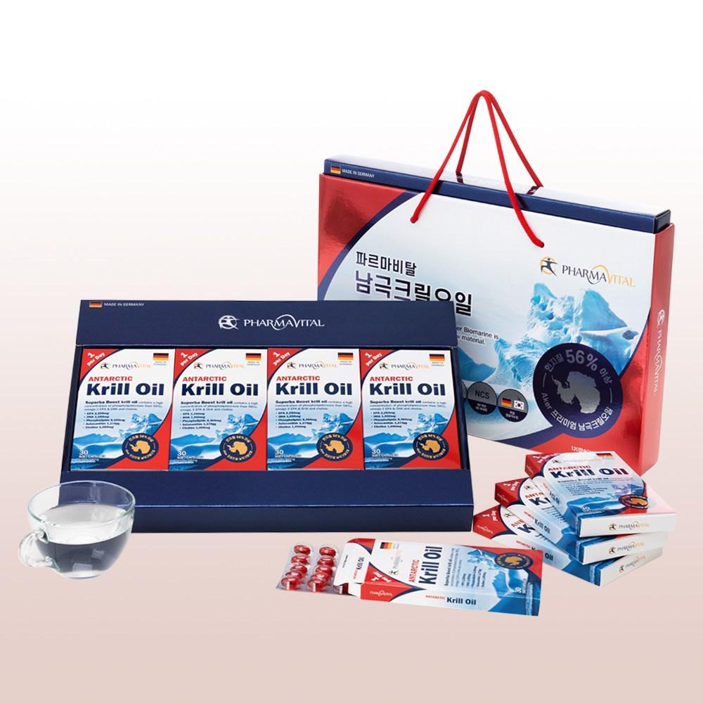 선물세트파르마비탈 남극 크릴오일 인지질 56 30정4박스 1box 30정4박스선물세트