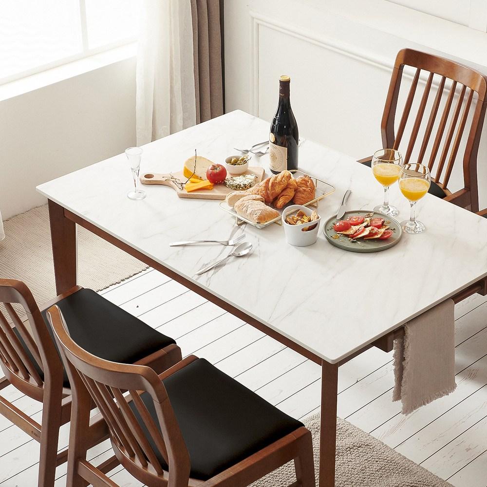 보니애가구 블랑코 1200 13.5T 통세라믹 테이블 원목 4인용 식탁세트, 테이블 단품