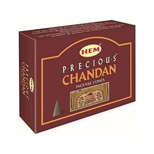 Precious Chandan Fragrance Incense Cones Indian Dhoop 12 Pocket, 본상품