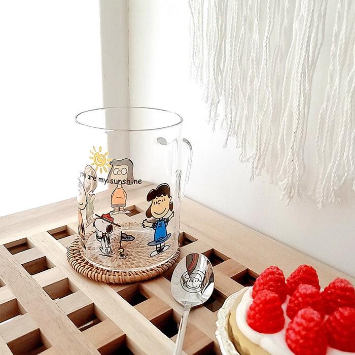 스누피프렌즈 유리컵 유리텀블러 500ml, 유리컵 단일상품