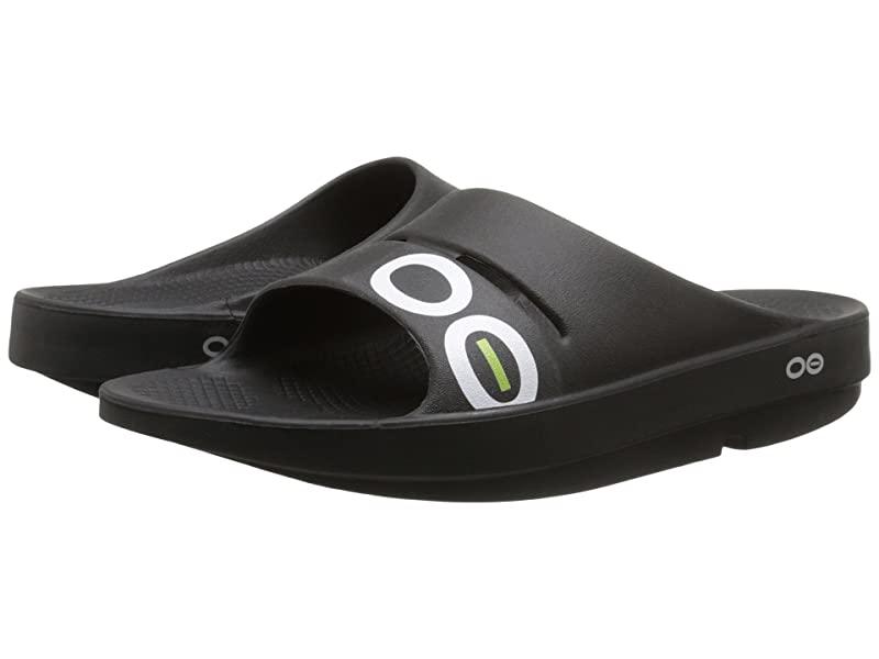 [미국정품] 341955 우포스 남성 슬리퍼 OOFOS OOahh Sport Sandal - Black/Black