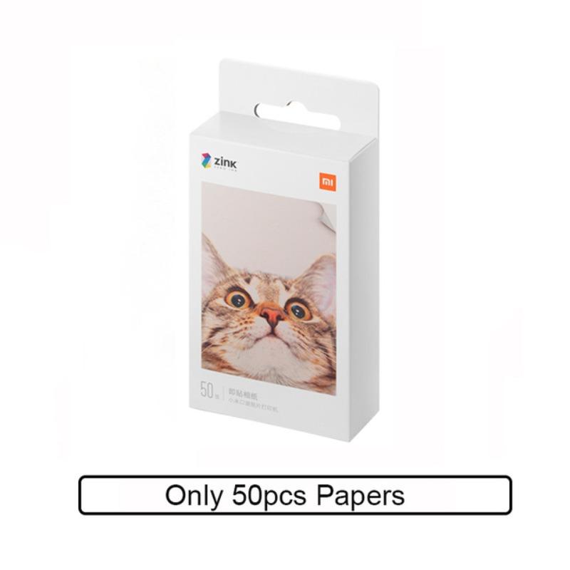 샤오미 미지아 포토 프린터 휴대용 핸드폰 포켓 프린터 사진 인화기, 인화지 50매-15-1865723276