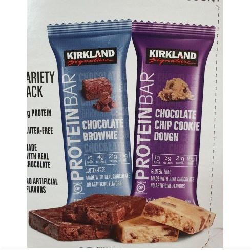 커클랜드 프로틴바 단백질바 2개입 버라이어티팩 초콜릿칩쿠키 초코브라우니 헬스보충 다이어트간식, 5세트