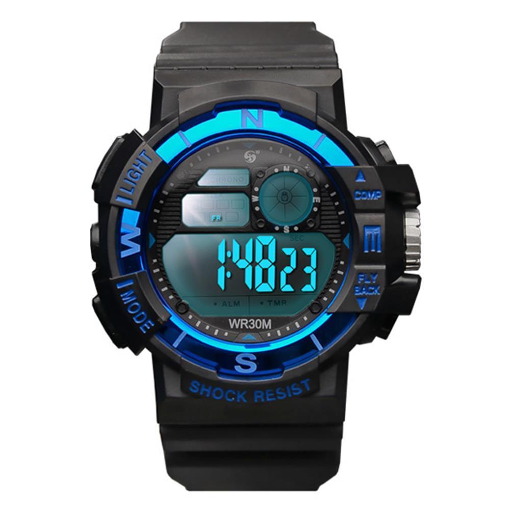 방수 남성 우레탄밴드 전자시계 블루 남성손목시계 남성시계 우레탄시계 패션시계