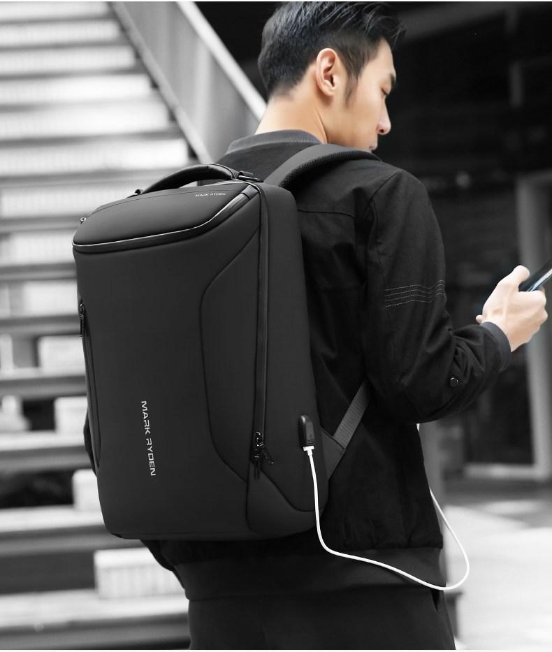 트래블백팩 빅샷 방검 보태가풍 USB 충전 백팩