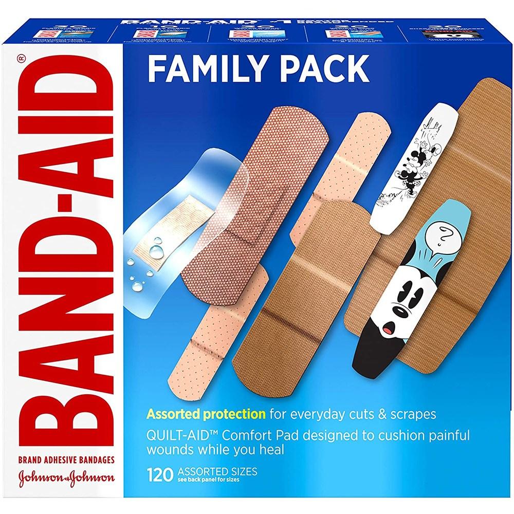 Band Aid 밴드에이드 상처밴드 패밀리팩 반창고 120입