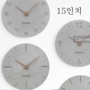 152 루나인터내셔널 / 캐주얼 벽시계 미니얼 복고풍 아이디어 가정용 시계 벽시계, 15인치C
