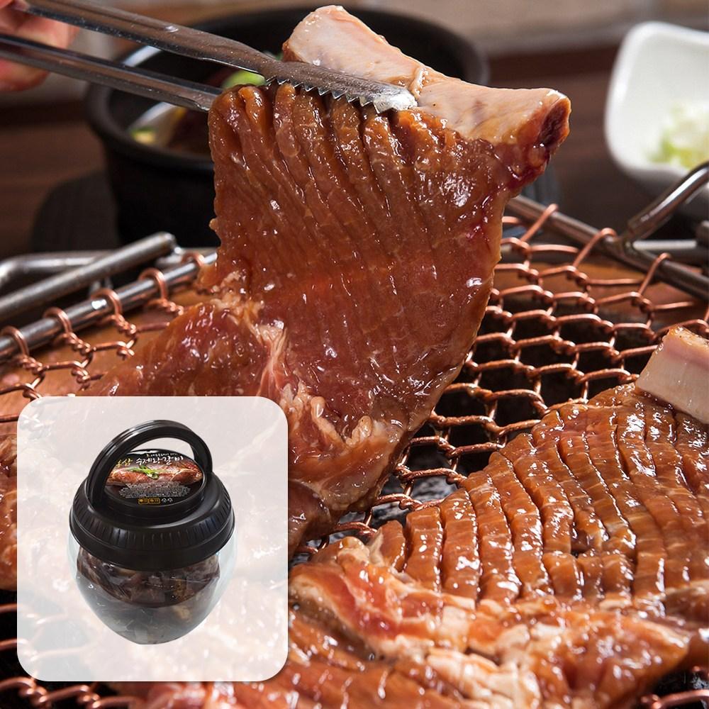 할매정육점 홍삼 항아리 수제 양념 왕갈비 국내산 2kg, 1통