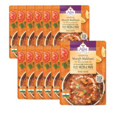 티아시아키친 치킨 마크니 커리 전자레인지용, 170g, 72개