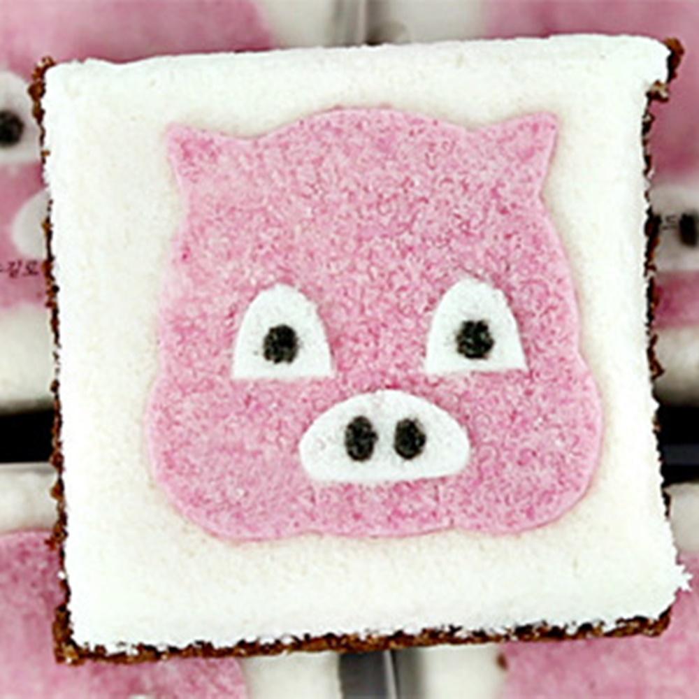착한떡 백일떡 돼지꿀백설기 10개 - 돼지띠꿀백설기 십이간지설기 백일상 삼신상 생일떡, 1개
