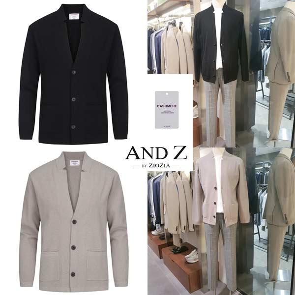 [현대백화점][앤드지by지오지아]F W 신상품 캐시미어믹스 재킷형가디건 2종택1 BZA3EC1105