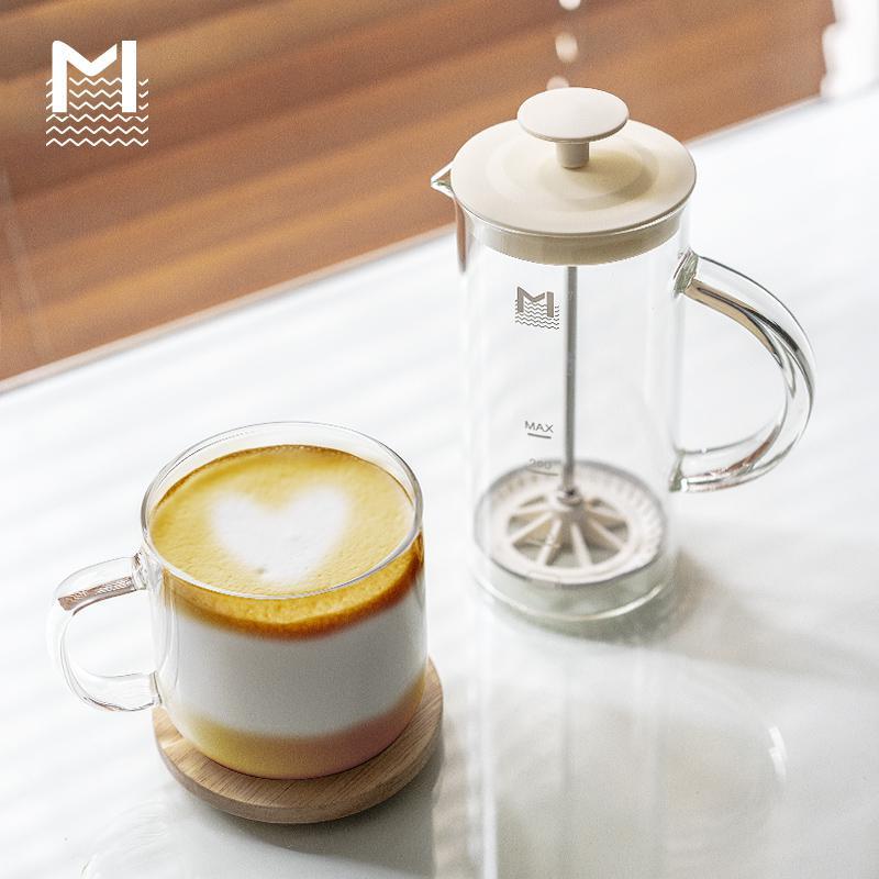 코스토프 밀크포머 커피거품기 수동 우유거품기, 베이지