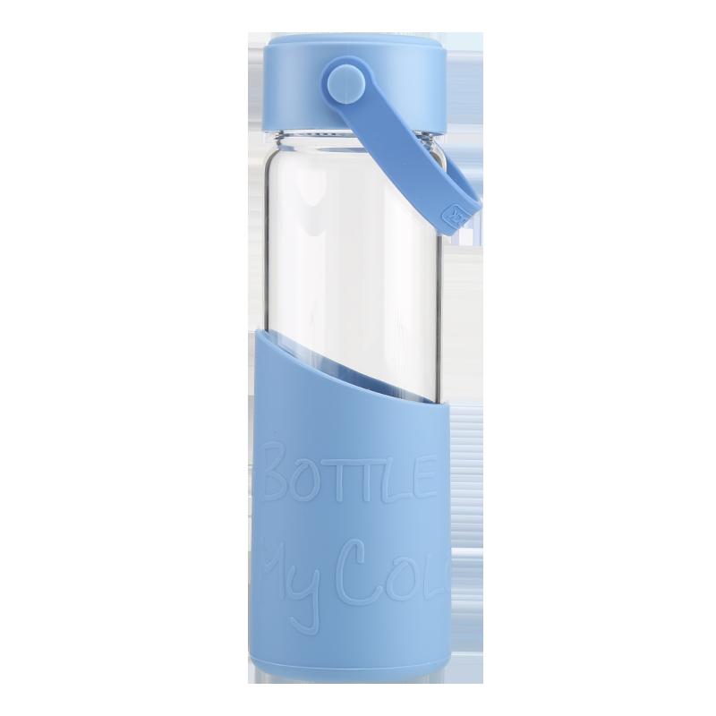 락앤락 멜로디 내열 유리 물컵 티 머그 남녀 학생 5ml llg679, 블루