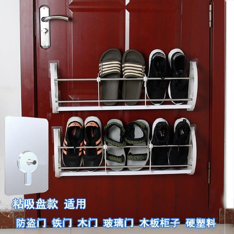 신발장 위 가정용 벽에거는식 샌들 슬리퍼 벽접착, T02-흡반 걸이식 신발장 2층