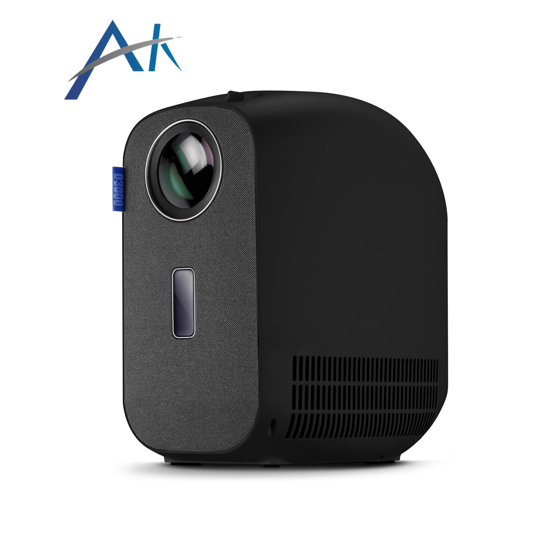 아카소 FHD급 1080P 고해상도 4500 루멘 LED 내장 스피커 휴대용 D3000 빔프로젝터, B 타입, 블랙 (POP 5476817390)