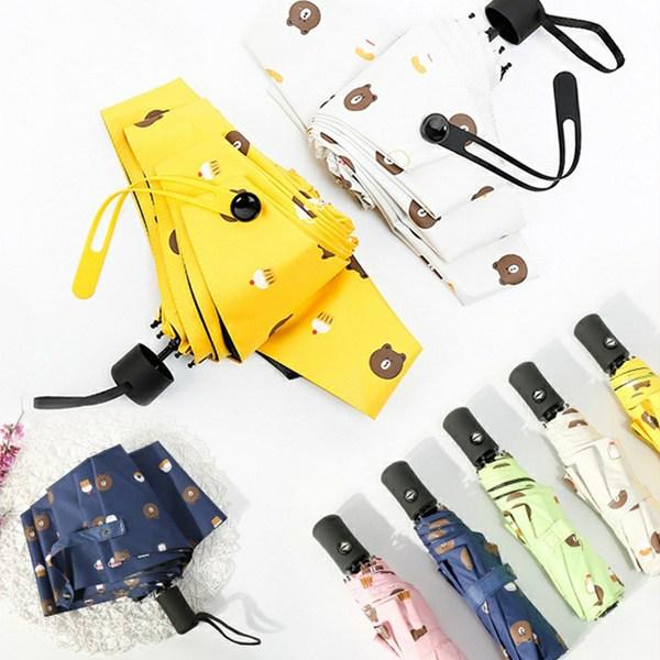 판매1위 만족도1위 제이스 곰돌이 UV차단 3단 자동우산 튼튼한우산 5단우산