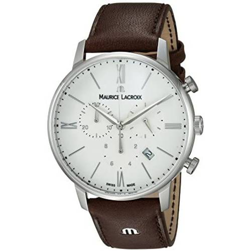 Maurice Lacroix Mens Eliros Stainless Steel Swiss Quartz Watch with Le