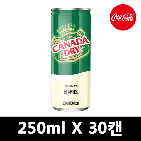 캐나다 진저엘 250ml CAN 30입, 60개입