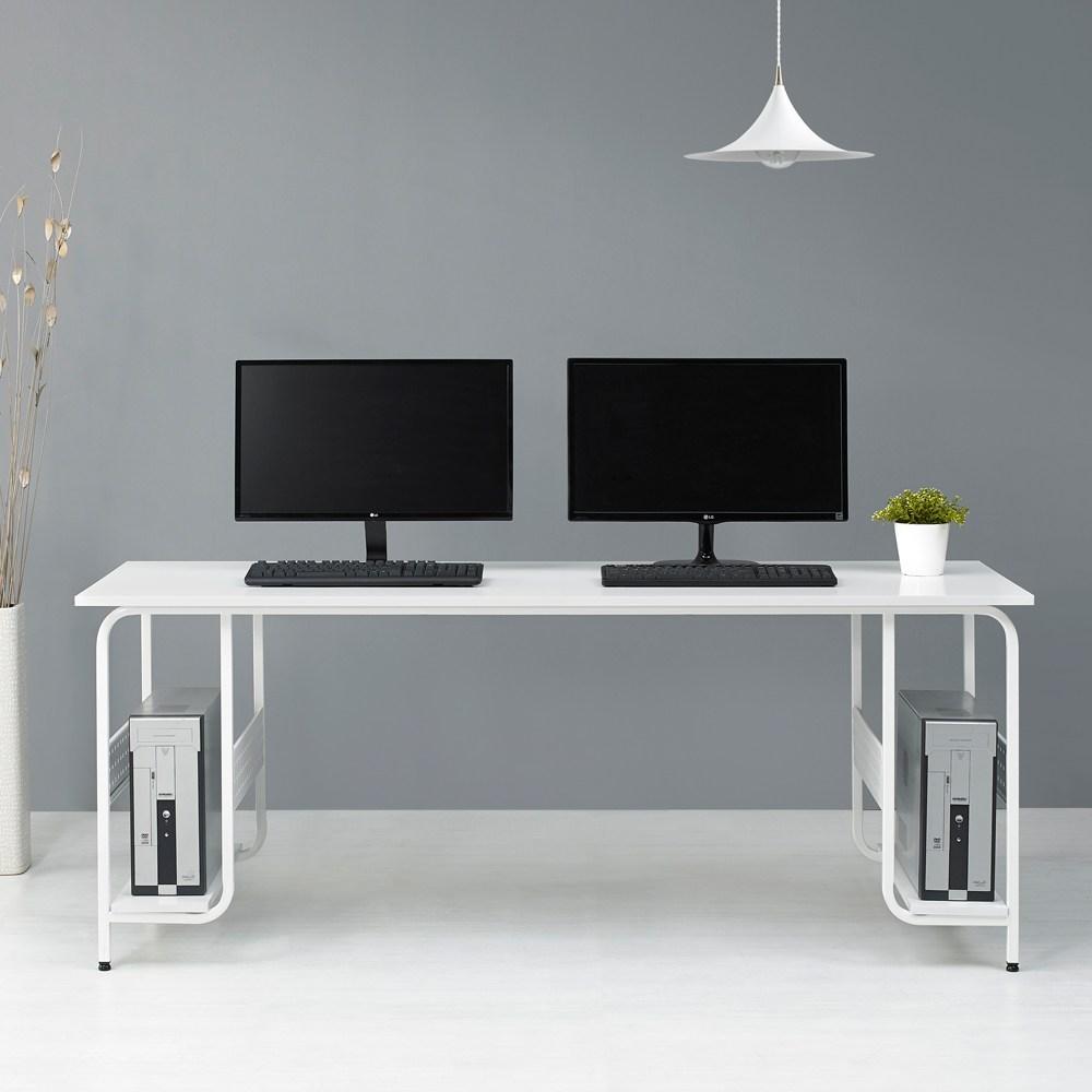 누마 감마 1인용 2인용 컴퓨터 책상, CD1760(2인용)-화이트
