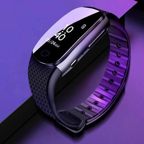 버디-W16H 손목시계형녹음기 연속녹음 16시간 8GB 간편밀어녹취 업무용