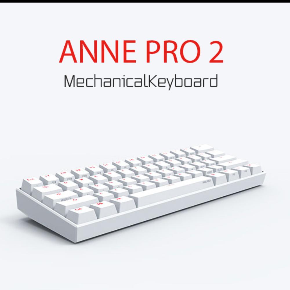 앤 프로 2 ANNE PRO 2 무선 기계식 키보드 게이트론 카일 체리, 공식 표준, 체리 CHERRY 실버 샤프트 2 세대 [화이트]
