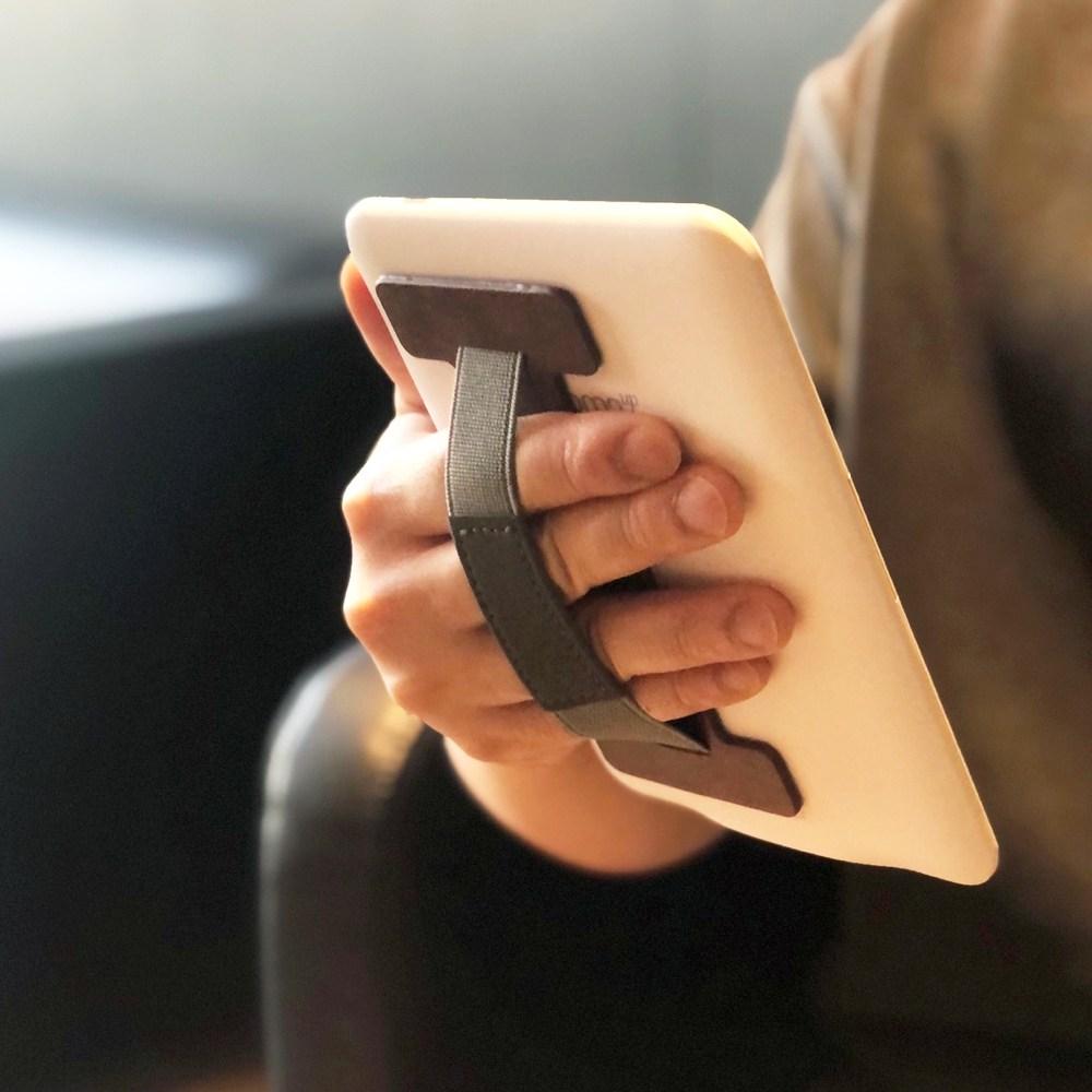 크레마 리디페이퍼 프로 오닉스 노바3 전자책 이북리더기 미끄럼방지 가죽 핸드그립 스트랩, 가죽_블랙