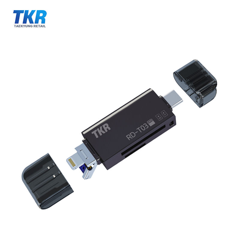 태경리테일 MicroSD카드 OTG 리더기 RD-T03 C타입 아이폰 8핀, OTG리더기 RD-T03 (슈퍼멀티 리더기)