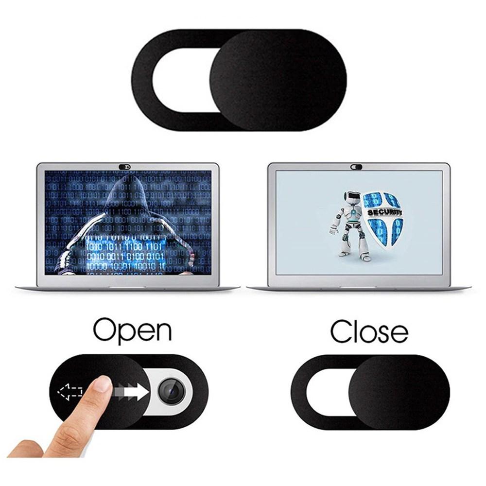 웹캠 노트북 해킹방지 스마트폰 아이폰 카메라 커버 스티커 가리개, 선택1.원형(블랙)