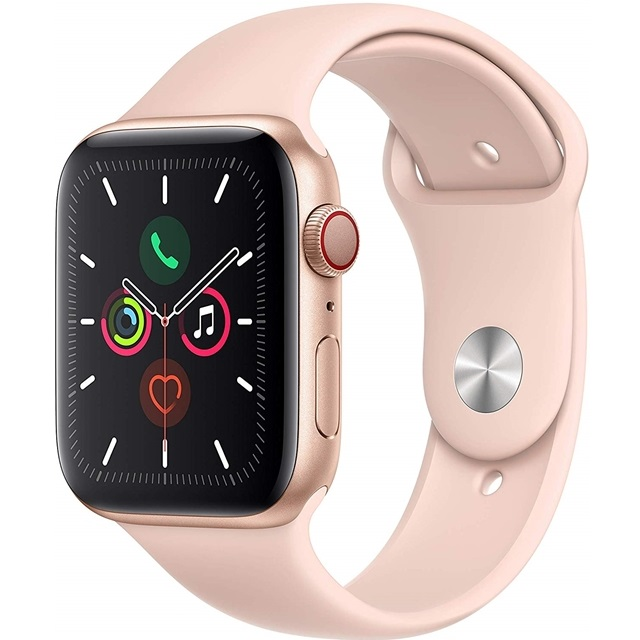 애플 Apple Watch Series 5 GPS  Cellular 44mm Gold Aluminum Case with Pink Sand