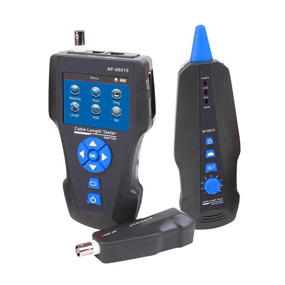 노야파 TDR 케이블거리측정기 랜테스터기 케이블추적기 PoE Ping테스트기 NF-8601S-K, 1개