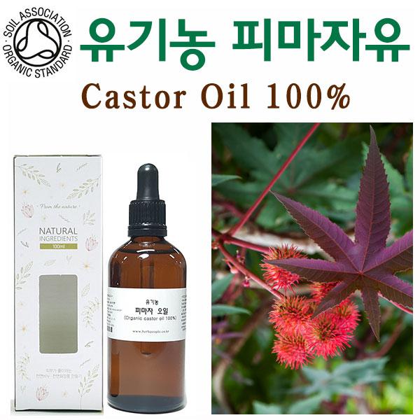 허브인] SOIL인증 유기농(Organic)피마자오일, 유기농100ml, 1개