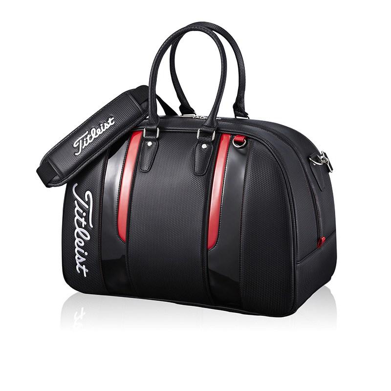 DNTI Industrial 타이틀리스트파우치 골프 방수 의류 가방 남녀 경량 숄더 백 스포츠 여행 장비, 블랙