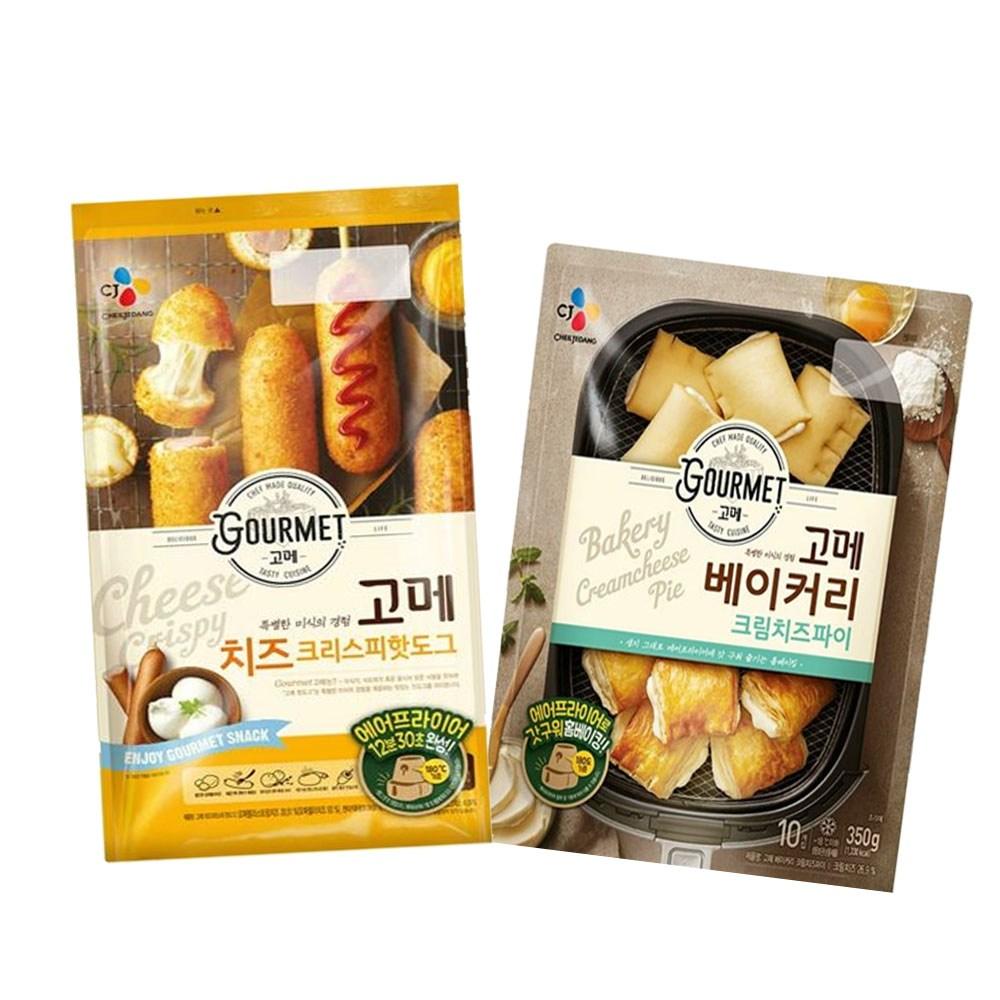 (냉동)고메 크림치즈파이350gx1개+(치즈)크리스피핫도그425gx1개, 1세트