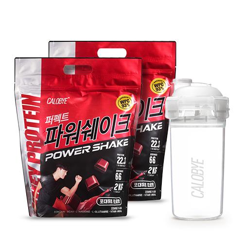 칼로바이 퍼펙트파워쉐이크 포대유청 WPC 초코맛 단백질보충제 프로틴, 2개