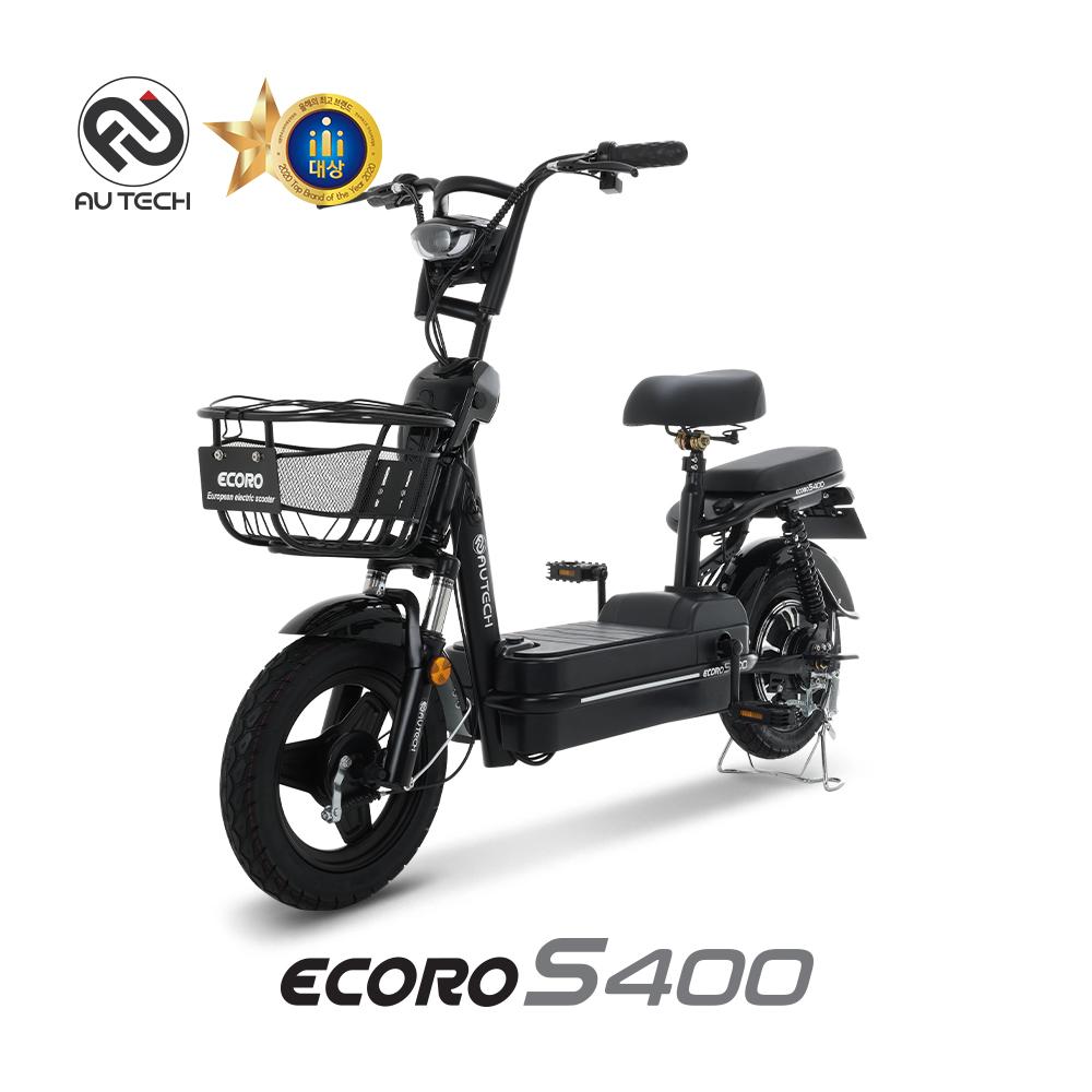 AU테크 에코로 S400 48V 18Ah 2인용 전동스쿠터, 에코로 S400 18A 블랙