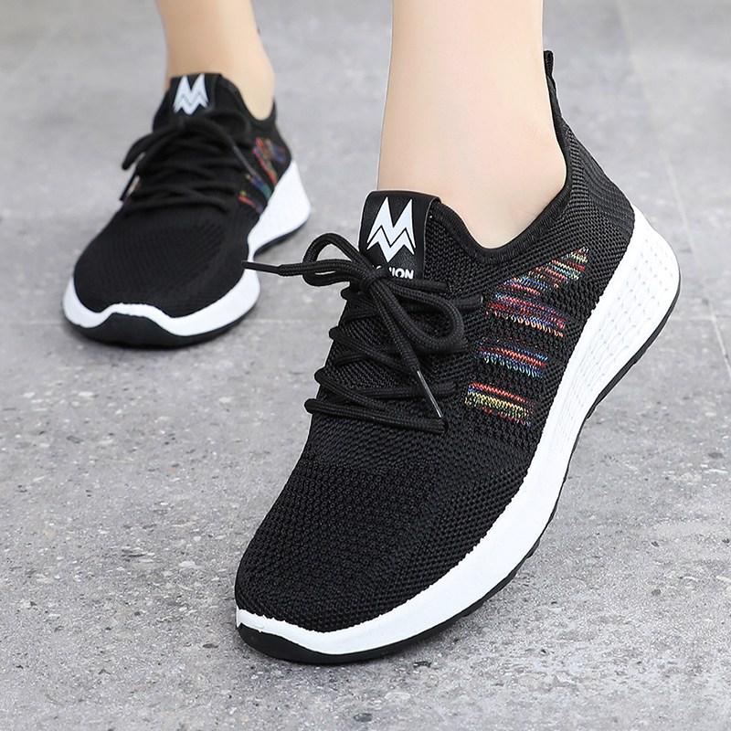 여성용스니커즈 올드베이징 헝겊신발 여성신발 2020뉴타입 코디하기쉬운 가을 통기성 단화 러닝 운동화 엄마 건강신발