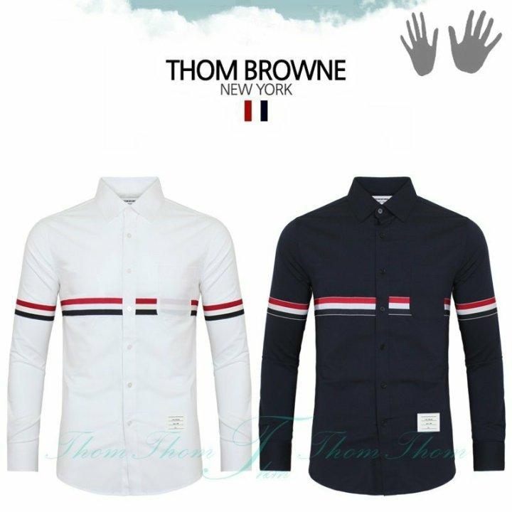 톰브라운 L6 가로삼선 셔츠