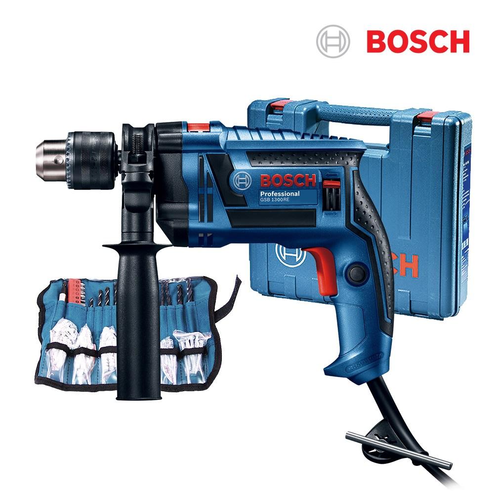 보쉬 650W 유선해머드릴 GSB1300RE+100P소재, 1세트