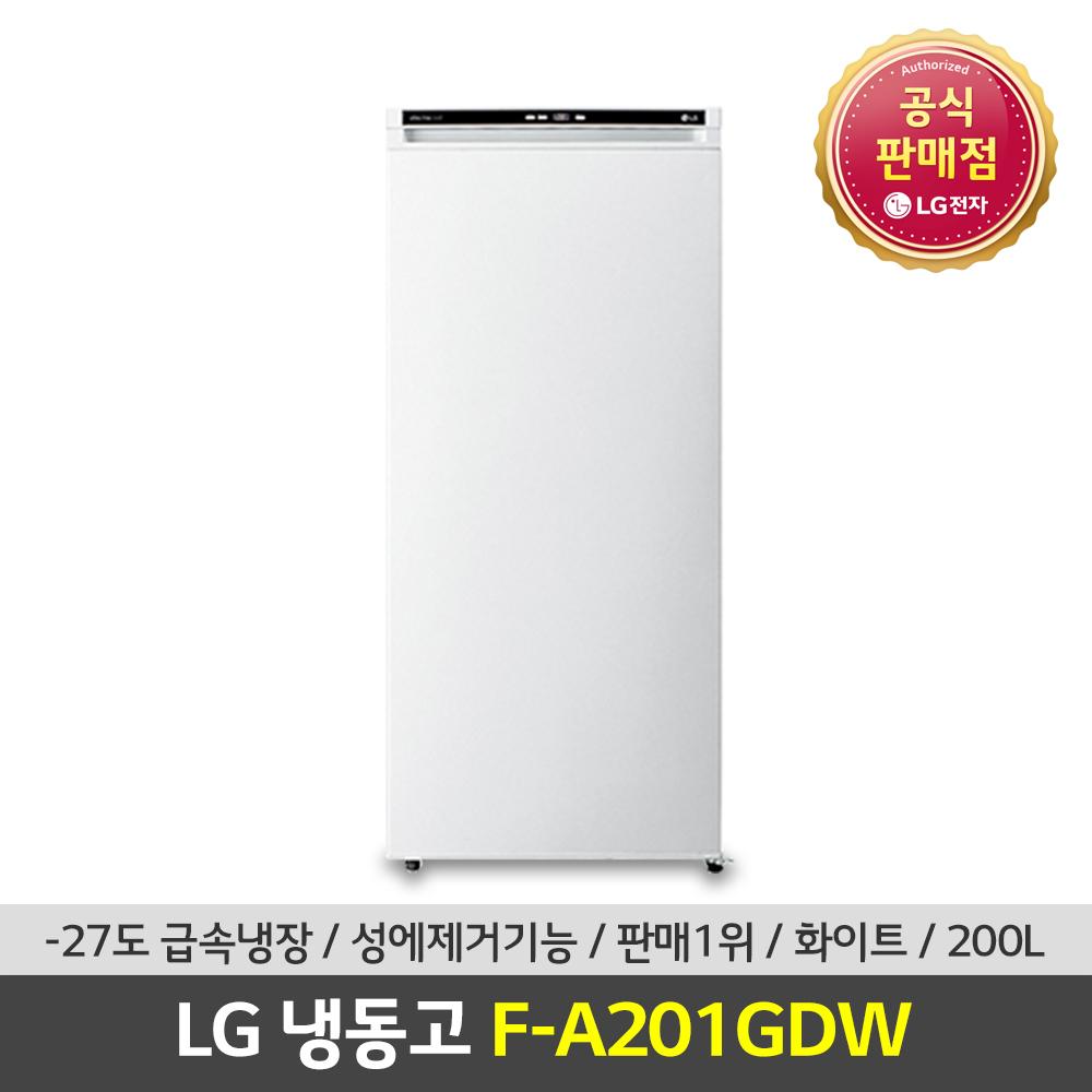 LG전자 공식판매점 (JS) LG 가정용냉동고 F-A201GDW 200L