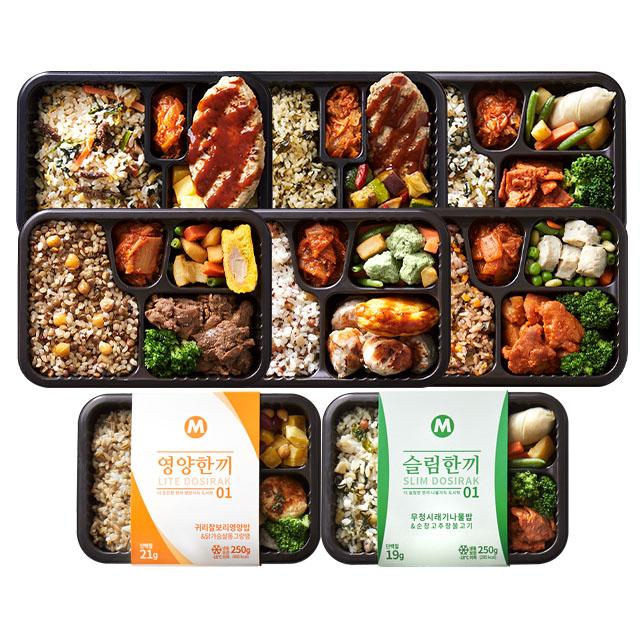 마이닭 맛있는 프리미엄 다이어트 혼밥 도시락 8팩 4팩, 01_영양+슬림도시락 혼합 8팩(각 1팩)
