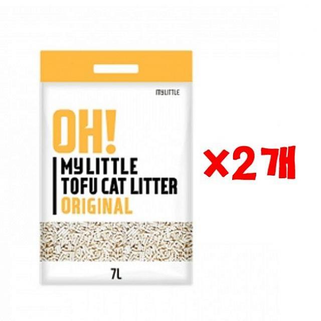 스마트한청년마 오마이 리틀 두부모래 오리지날 7L X 2개 고양이모래 고양이 모래 두부