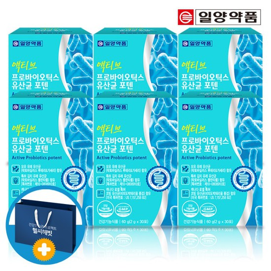 일양 액티브 프로바이오틱스 모유유래 유산균 6박스 쇼핑백포함, 상세설명 참조, 없음