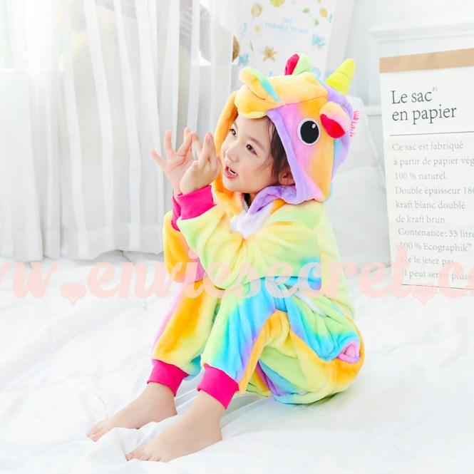 앙비시크릿 어린이동물잠옷 레인보우유니콘 할로윈 코스튬 코스프레