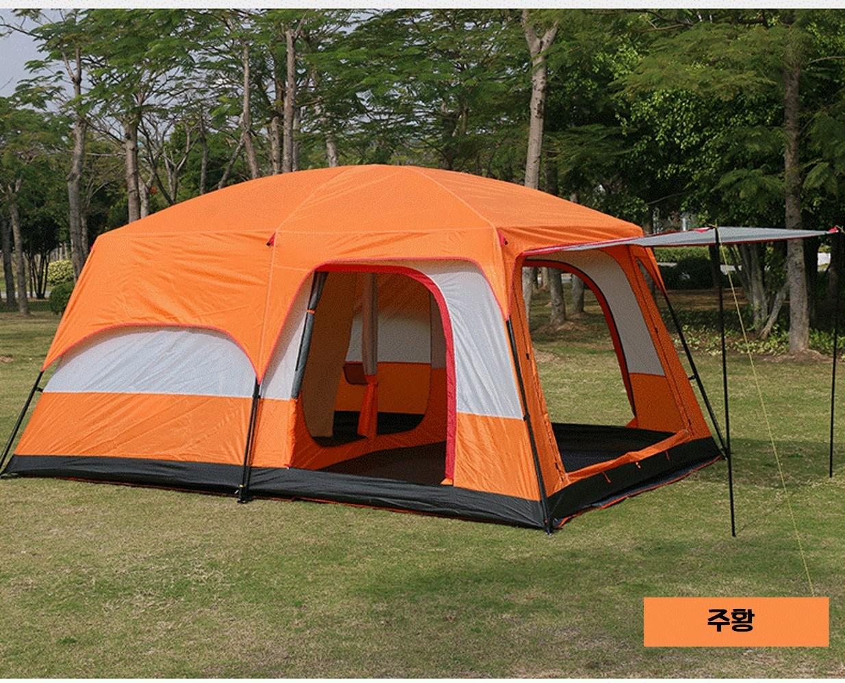 투룸 텐트 돔 겨울 쉘터 거실형 텐트, 주황