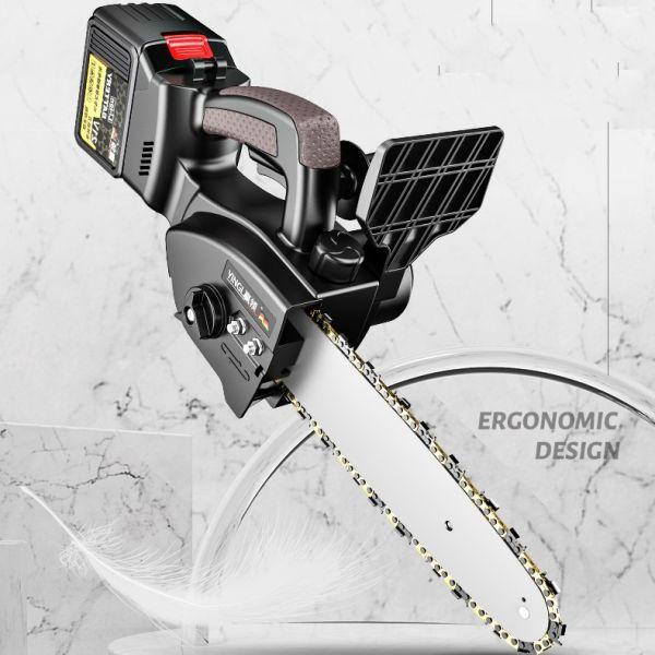 독일 YINGL LED 소형 미니 한손충전톱 나무자르는기계 충전식 무선 전기톱[대용량 배터리1개 구성], 대용량 배터리1개, 단일색상
