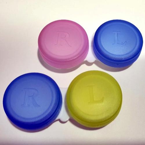 아큐브 렌즈 사용 가능한 케이스 (모든 렌즈에 사용가능) 렌즈케이스, 1개, 렌덤