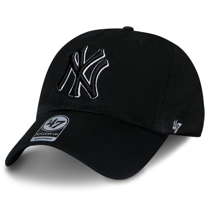 MLB 모자 47브랜드 클린업 뉴욕 양키즈 블랙 더블 톤