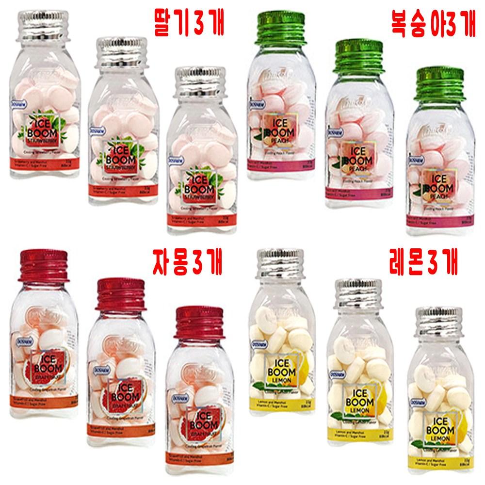 아이스붐 4종 3개씩 12개 딸기3+복숭아3+자몽3+레몬3 22g, 22gX12개